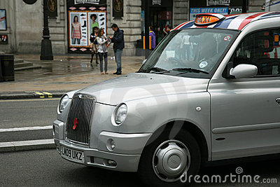 London Taxi Editorial Photo