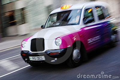 London taxi cab Editorial Image