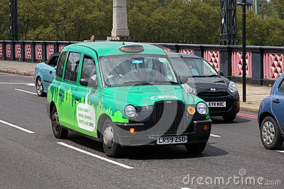 London taxi cab Editorial Photo