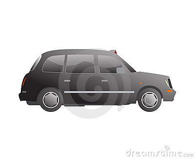 London taxi cab vector