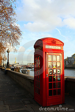London telephone booth Editorial Stock Photo
