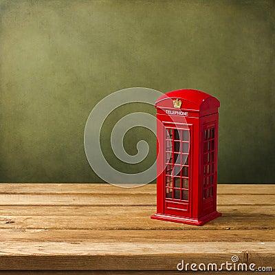 London telephone booth moneybox