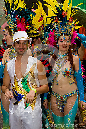 London Thames Festival Night Carnival Editorial Stock Image