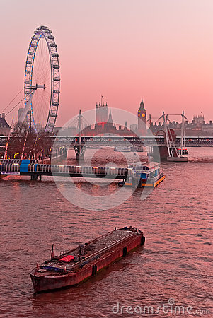 London, Thames and Westminster Editorial Stock Image