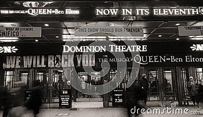 London Theatre, Dominion Theatre Editorial Photography