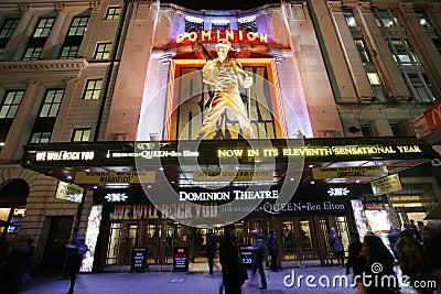 London Theatre, Dominion Theatre Editorial Photo