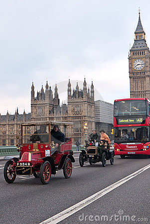 London to Brighton Car Run Editorial Image