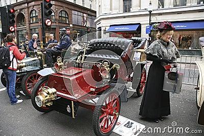 London to Brighton Veteran Car Run Editorial Stock Image