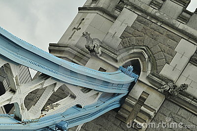 London Tower Bridge artistic angle