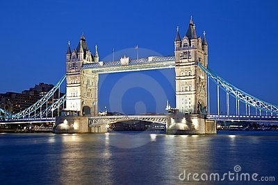 London Tower bridge by night