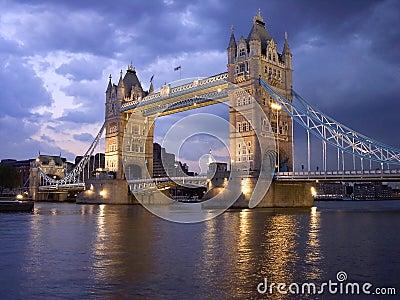 London Tower Bridge by night