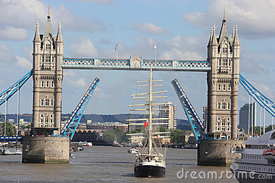 London Tower Bridge Opening Editorial Stock Image