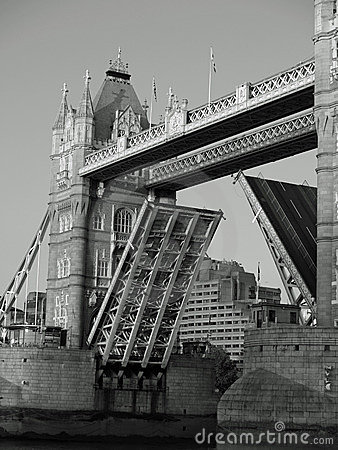 London Tower Bridge Raised