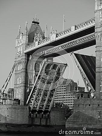 London Tower Bridge Raised