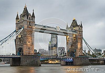 London Tower bridge on sunset