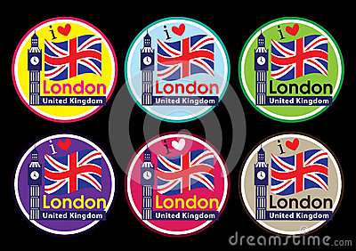London travel icon set