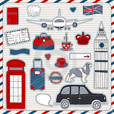 London travel icons
