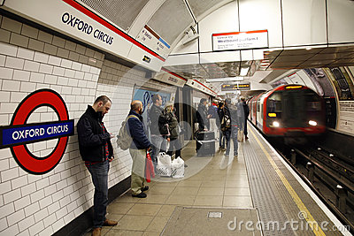 London Tube, Oxford Circus Editorial Image