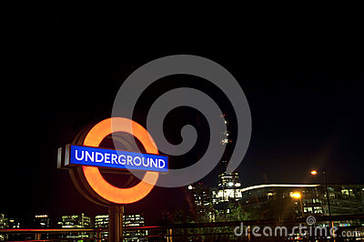 London Tube Sign Editorial Stock Photo