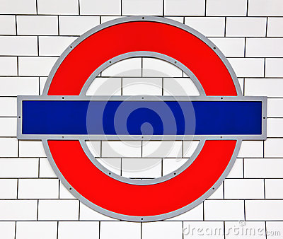 London tube sign Editorial Stock Photo