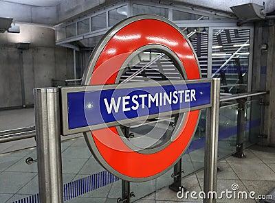 London Tube Station Editorial Photo