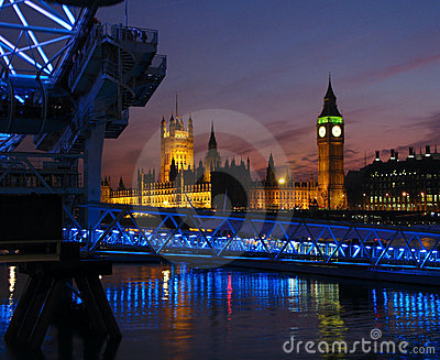 London Twilight, UK Editorial Image