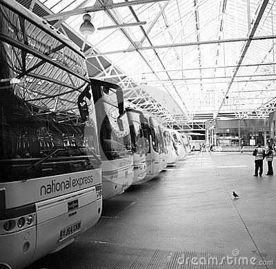 Inside View of London Victoria Coach Station