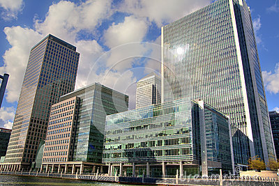 LONDON, UK - CANARY WHARF,  HDR Editorial Stock Image