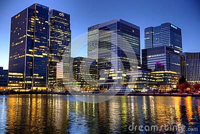 LONDON, UK - CANARY WHARF,  HDR Editorial Photography