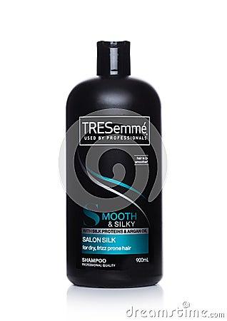 Free LONDON, UK - FEBRUARY 02, 2018: Tresemme Silky Smooth Shampoo On White. Stock Image - 109046361
