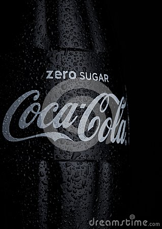 Free LONDON, UK - JANUARY 02, 2018: Cold Glass Bottle Of Zero Coca Cola Drink With Ice And Dew On White. The Drink Is Produced And Manu Royalty Free Stock Images - 107246249