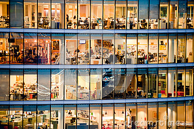 People working in a modern office building Editorial Stock Photo