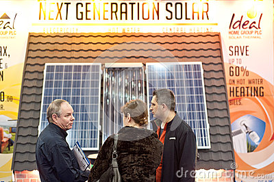 Customers buying solar panels Editorial Photography
