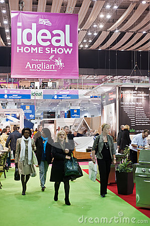 Visitors at the Ideal Home Show Editorial Photo