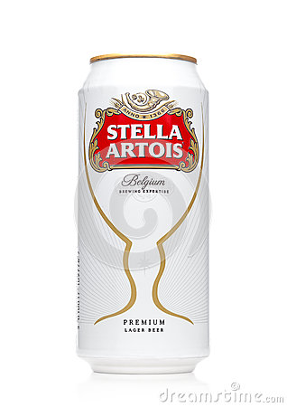 Free LONDON, UK - MAY 29, 2017: Alluminium Can Of Stella Artois Beer On White. Stella Artois Has Been Brewed Since 1926 In Belgium. Royalty Free Stock Photos - 93425818