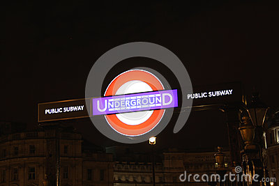 London Undergorund Tube Sign Editorial Photography