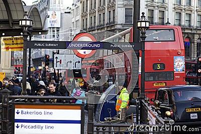 London Underground Editorial Photo