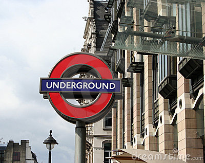 London underground sign Editorial Photography