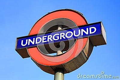 London Underground sign Editorial Photo