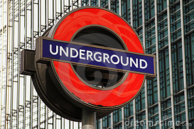 London Underground Sign Editorial Image