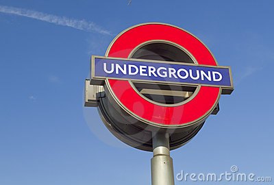 London Underground Sign Editorial Stock Photo