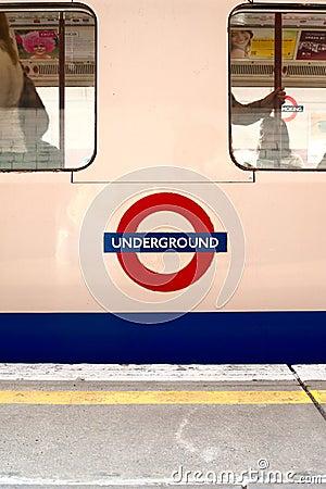 London Underground train Editorial Image
