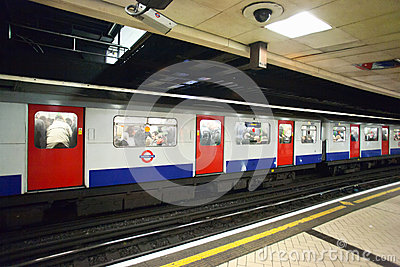 London underground train Editorial Photography