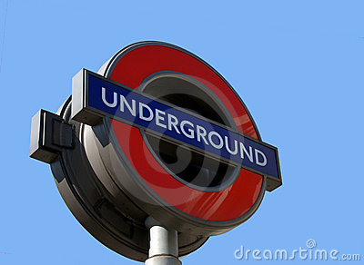 London Underground Tube Sign Editorial Photo