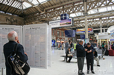 London Victoria Station Editorial Photo