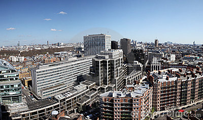 London view of city of Westminster