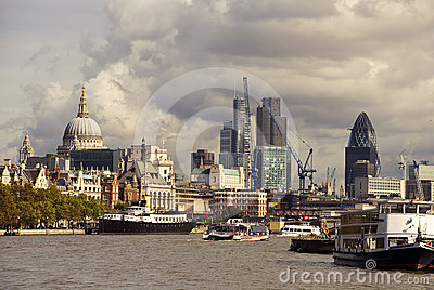 London view from the thames Editorial Image