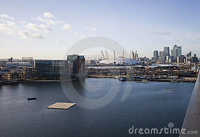 London views over Canary Wharf