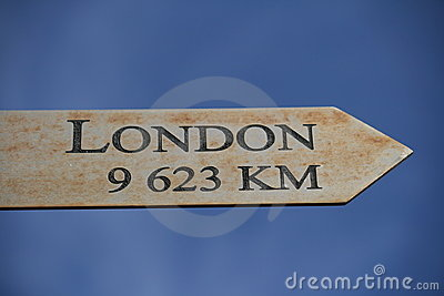 London this way , 9623 KM
