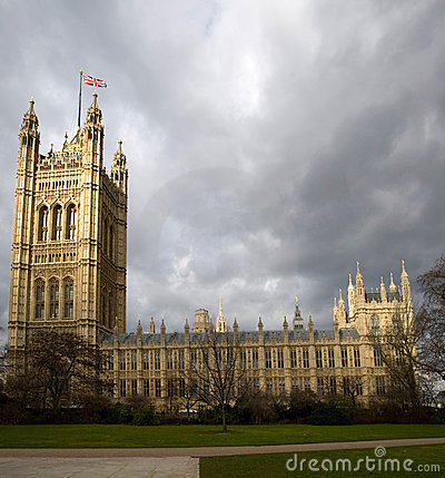 London. Westminster Abbey. Flag